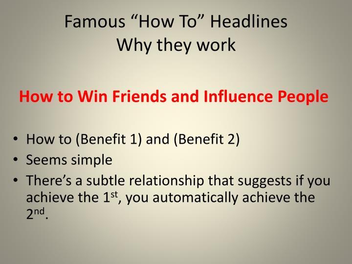"Famous ""How To"" Headlines"