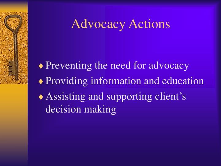 Advocacy Actions