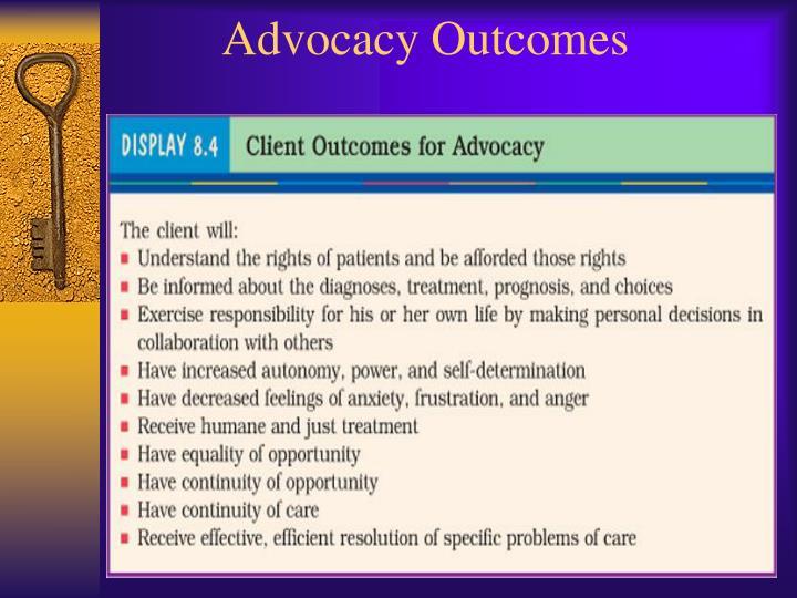 Advocacy Outcomes