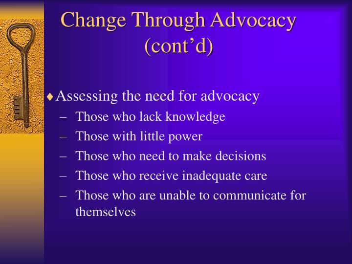 Change Through Advocacy