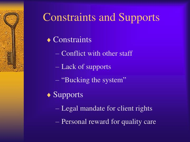 Constraints and Supports