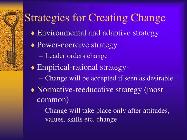 Strategies for Creating Change