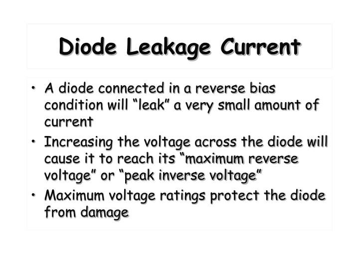 Diode Leakage Current
