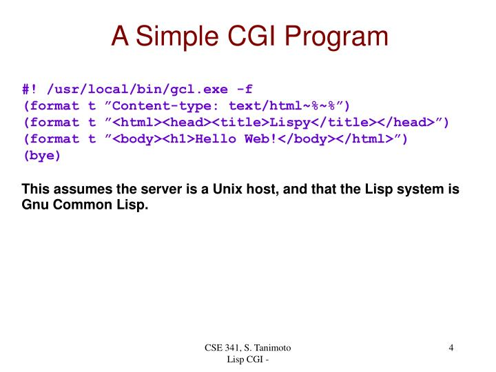 A Simple CGI Program
