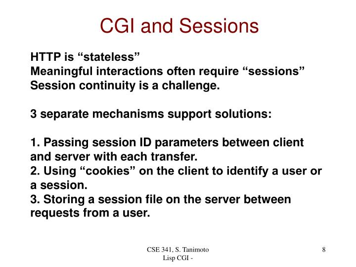 CGI and Sessions