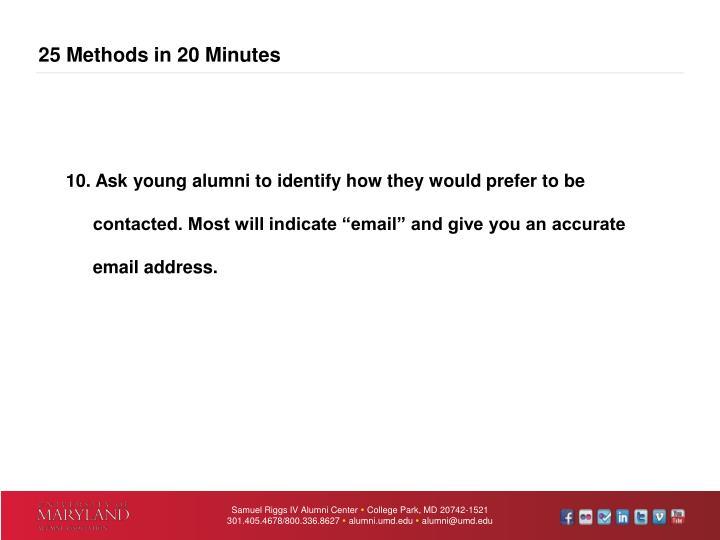 25 Methods in 20 Minutes