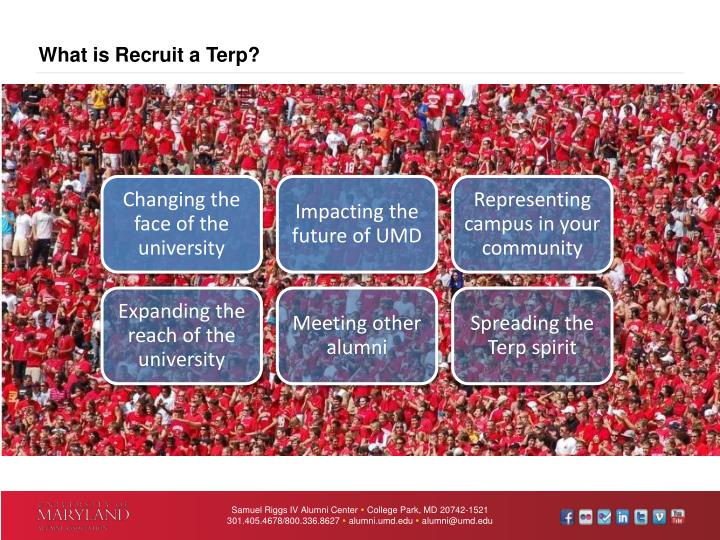What is Recruit a Terp?