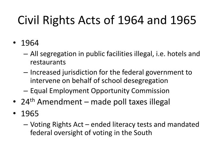 Civil Rights Acts of 1964 and 1965