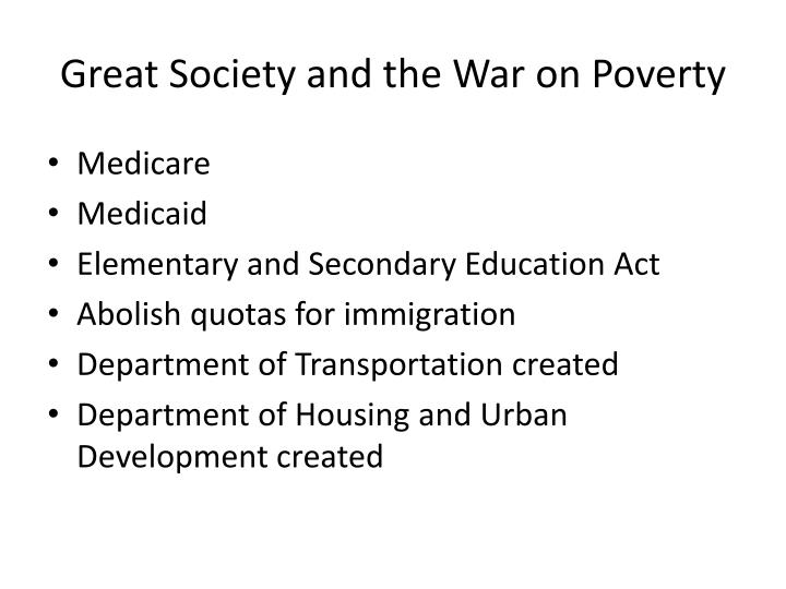 Great Society and the War on Poverty