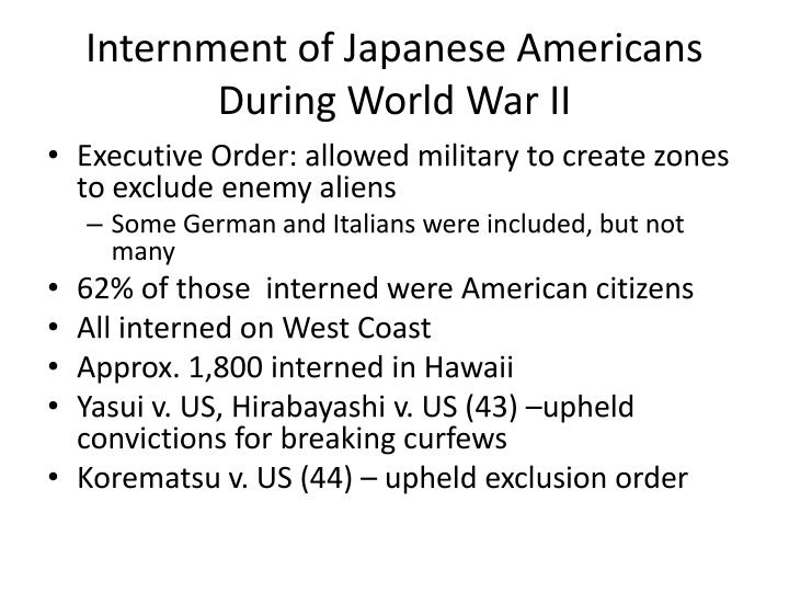 Internment of Japanese Americans During World War II