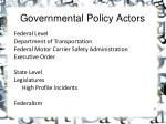 governmental policy actors