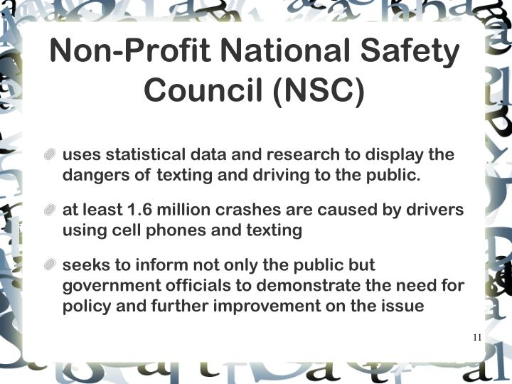 Non-Profit National Safety Council (NSC)