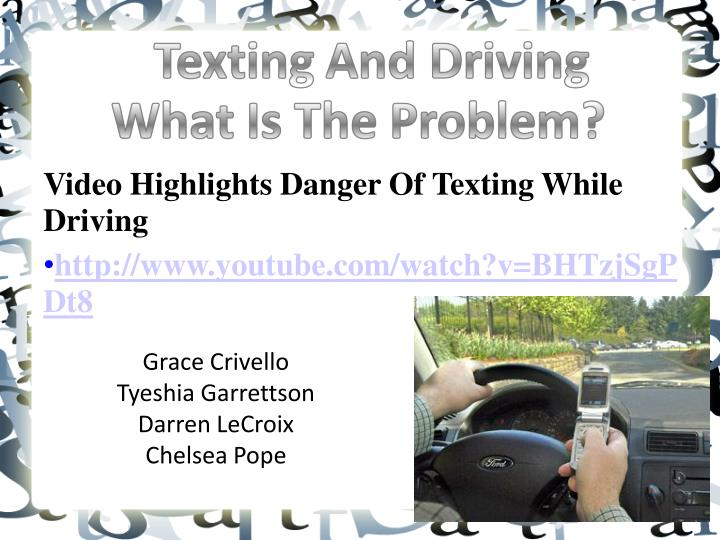 Video Highlights Danger Of Texting While Driving