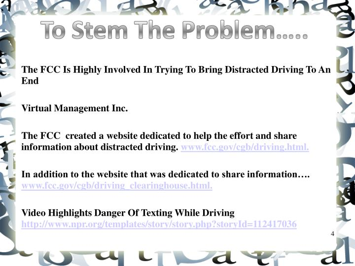 The FCC Is Highly Involved In Trying To Bring Distracted Driving To An End