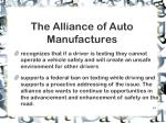 the alliance of auto manufactures