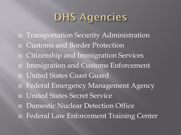 DHS Agencies