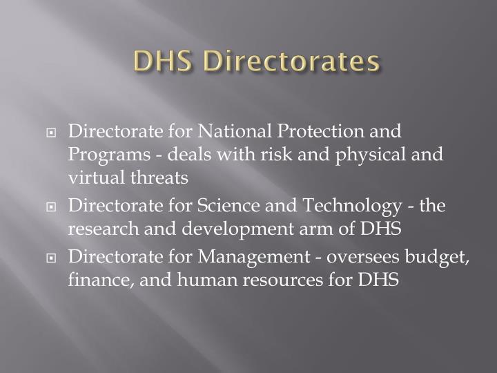 DHS Directorates
