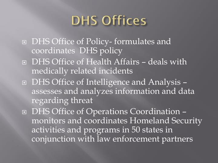 DHS Offices