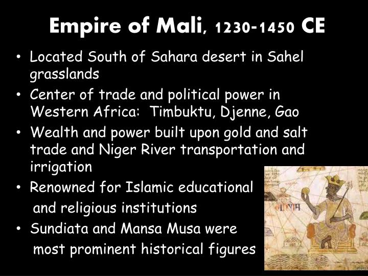 Empire of mali 1230 1450 ce