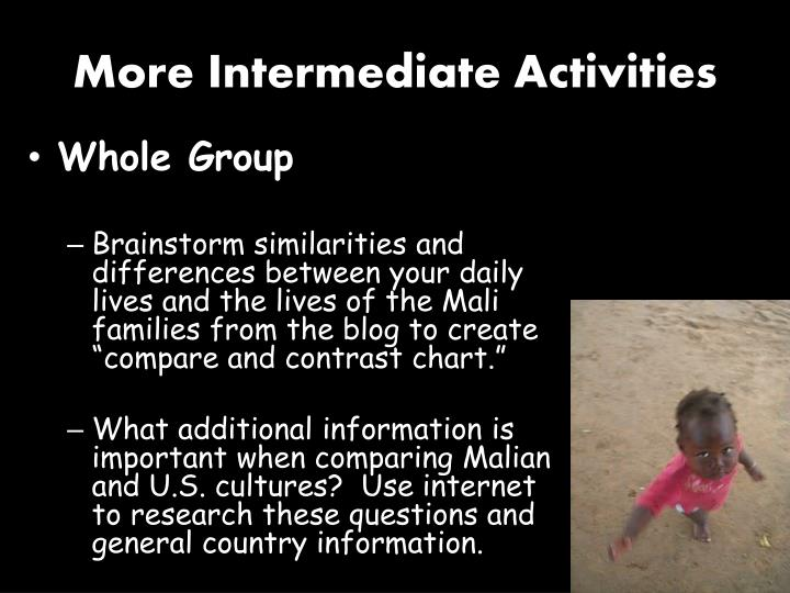 More Intermediate Activities
