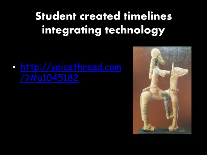 Student created timelines integrating technology