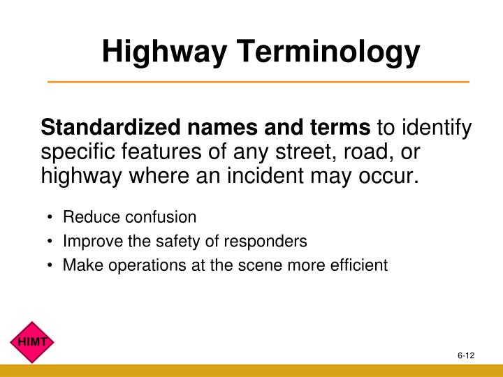 Highway Terminology