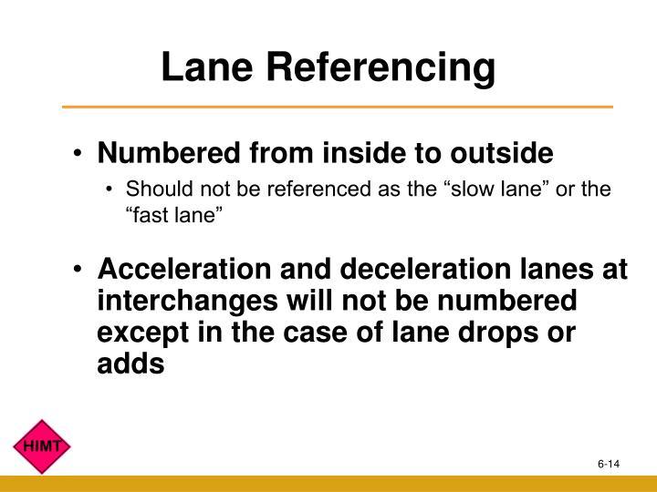 Lane Referencing