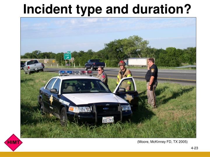 Incident type and duration?
