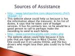 sources of a ssistance