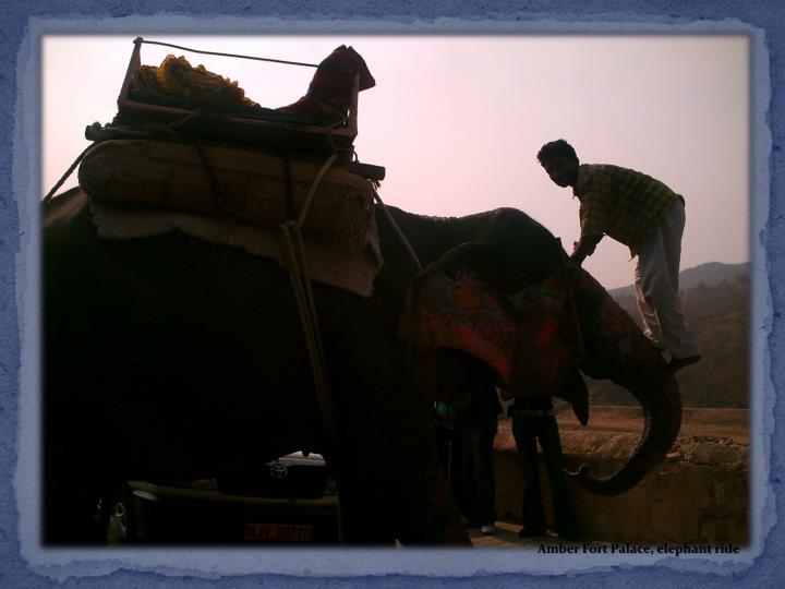 Amber Fort Palace, elephant ride