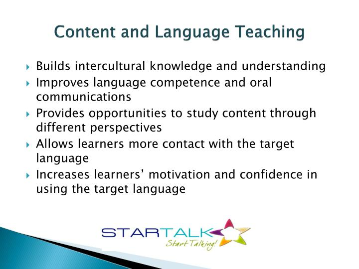 Content and Language Teaching