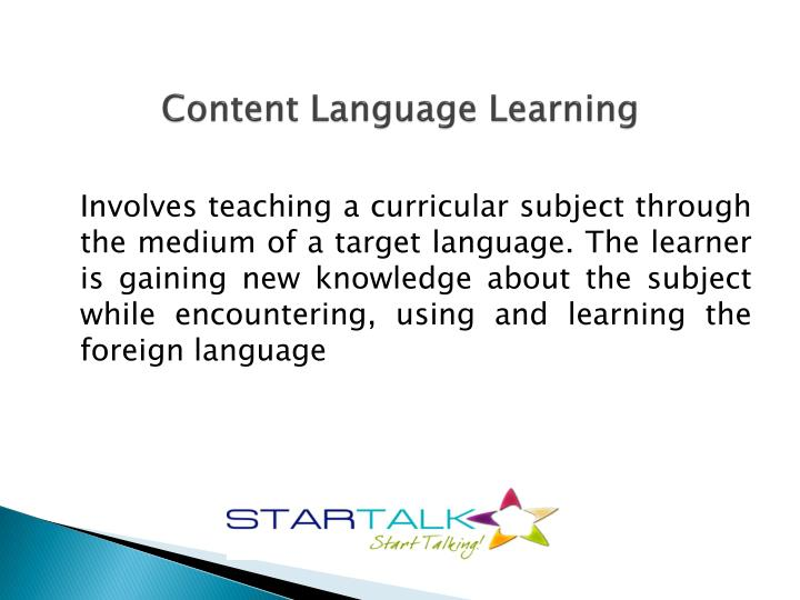 Content language learning