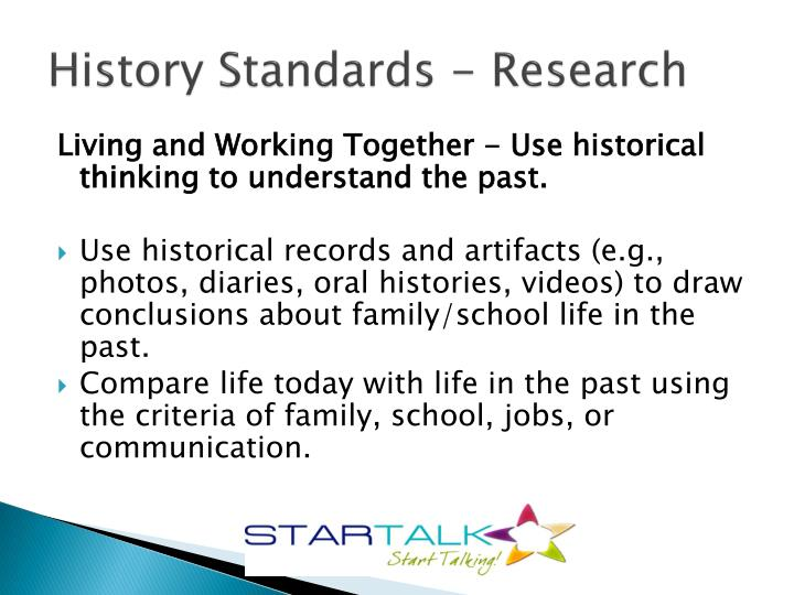 History Standards - Research