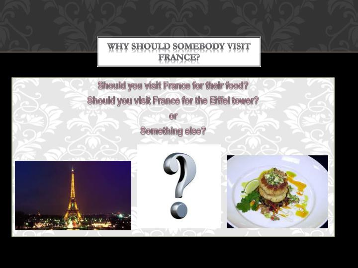 Why should somebody visit france