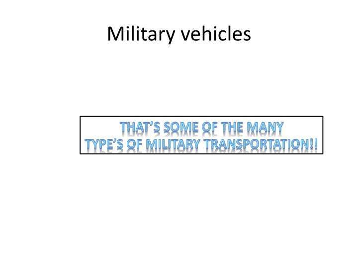 Military vehicles1
