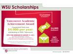 wsu scholarships
