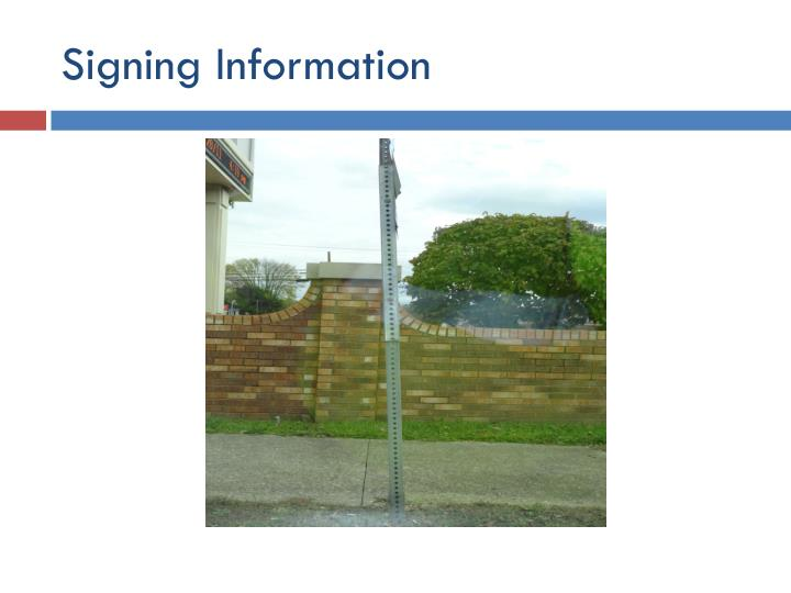 Signing Information