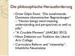 die philosophische herausforderung