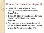 krise an der university of virginia i