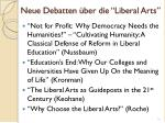 neue debatten ber die liberal arts