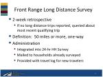 front range long distance survey
