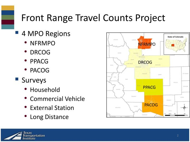Front range travel counts project