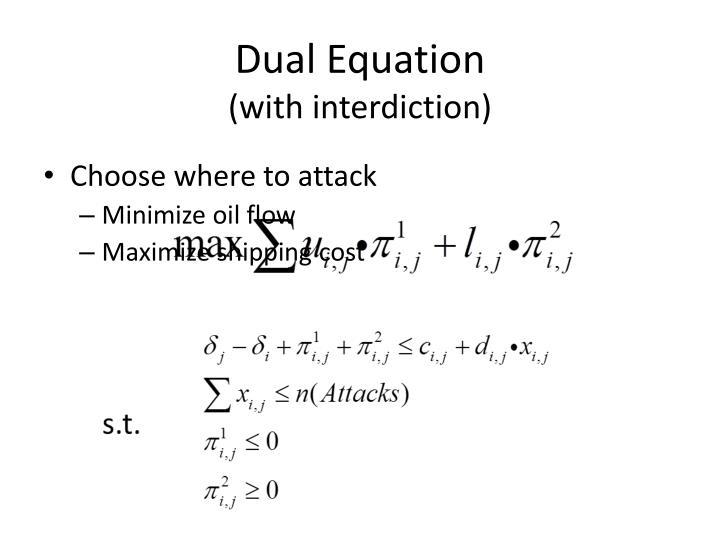 Dual Equation