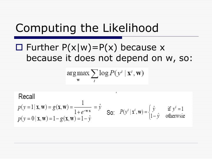 Computing the Likelihood