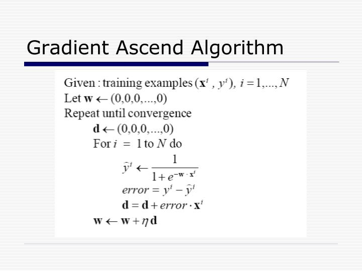 Gradient Ascend Algorithm