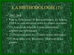 la methodologie 1