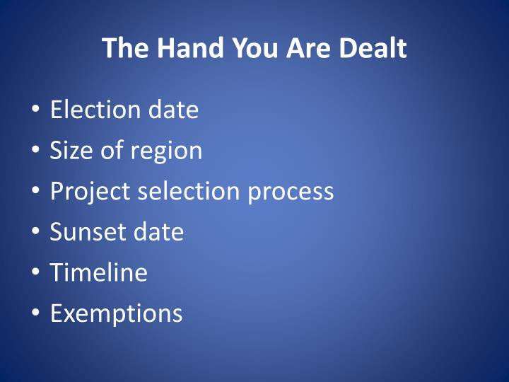 The Hand You