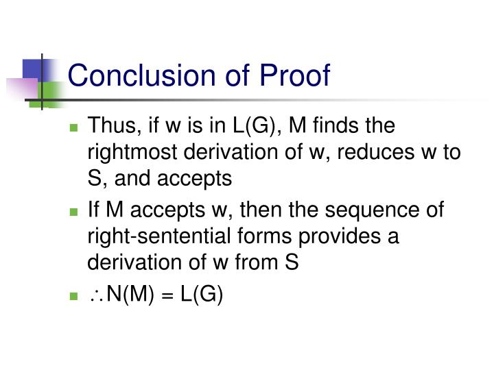 Conclusion of Proof