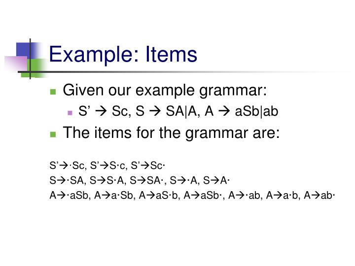 Example: Items