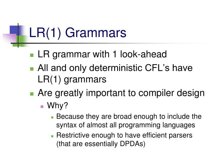 LR(1) Grammars